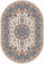 Ковер SHAHREZA_d206, 0,8*1,33, OVAL, CREAM-BLUE