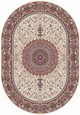 Ковер SHAHREZA_d205, 0,7*1,2, OVAL, CREAM-BROWN
