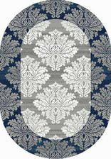 Ковер SILVER_d213, 0,6*1,1, OVAL, GRAY-BLUE