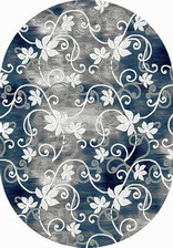Ковер SILVER_d218, 3*5, OVAL, GRAY-BLUE