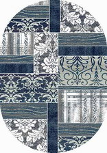Ковер SILVER_d220, 0,6*1,1, OVAL, GRAY-BLUE