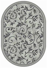 Ковер SILVER_d230, 1,5*1,9, OVAL, LIGHT GRAY