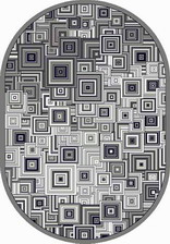 Ковер SILVER_d239, 0,8*1,5, OVAL, GRAY