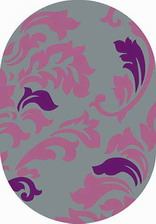 Ковер SUNRISE_v812, 2*5, OVAL, GRAY-LILAC