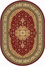Ковер VALENCIA_D402, 3*4, OVAL, RED
