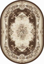 Ковер VALENCIA DELUXE_4015, 2*4, OVAL, BROWN