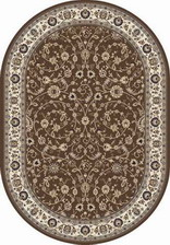 Ковер VALENCIA DELUXE_d251, 2*4, OVAL, BROWN
