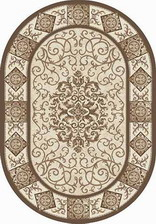 Ковер VALENCIA DELUXE_d316, 1*2, OVAL, BROWN