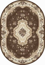 Ковер VALENCIA DELUXE_d317, 1*2, OVAL, BROWN