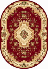 Ковер VALENCIA 2_d317, 2,5*3,5, OVAL, RED