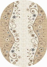Ковер VALENCIA DELUXE_d323, 2*4, OVAL, CREAM-BROWN