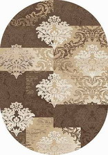 Ковер VALENCIA DELUXE_d331, 1,5*2,3, OVAL, BROWN