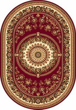 Ковер DA VINCI_5246, 1,5*3, OVAL, RED