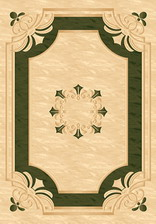 Ковер KAMEA_5333, 1*4, STAN, CREAM-GREEN