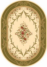 Ковер KAMEA_d142, 1*4, OVAL, CREAM-GREEN