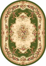 Ковер VALENCIA_4015, 3*4, OVAL, GREEN