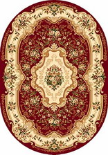 Ковер VALENCIA_d017, 3*4, OVAL, RED