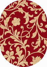 Ковер LAGUNA_d184, 1,5*1,9, OVAL, RED