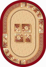 Ковер LAGUNA_VERSACE, 0,6*1,1, OVAL, RED