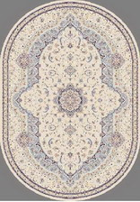 Ковер MASHAD PRESTIGE_02315A, 0,8*1,5, OVAL, CREAM-L.BLUE