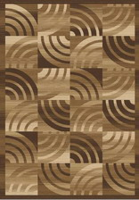 Ковер MEGA CARVING YELLOW_0205C, 1,2*1,8, OVAL, BEIGE - BROWN