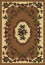 Ковер PACIFIC CARVING_37, 1*4, OVAL, BROWN - CREAM