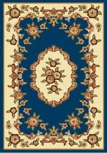 Ковер PACIFIC CARVING_37, 2*3,5, OVAL, NAVY - CREAM