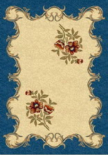 Ковер PACIFIC CARVING_250, 2*3,5, OVAL, CREAM - NAVY