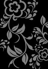 Ковер PACIFIC CARVING_476, 1*3, OVAL, BLACK - GRAY
