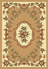 Ковер PACIFIC CARVING_0037A, 3*3,5, OVAL, BEIGE - CREAM